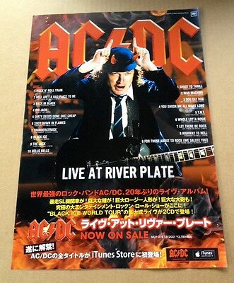 2013 AC/DC Live At Riverplate JAPAN album promo ad / mini poster advert