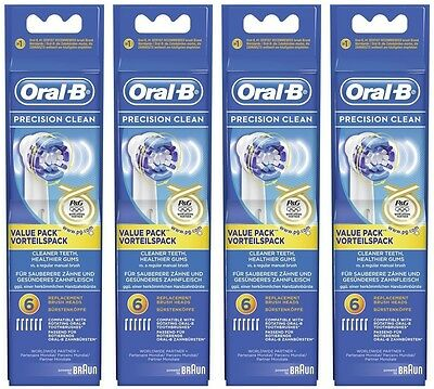 24 Braun Oral-B Precision Clean Eb20-6 Original Neu