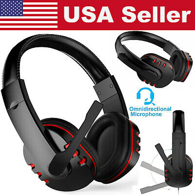 Stereo Gaming Headset w/Mic Ergonomic Adjustable Headphone For PS4 Xbox Computer