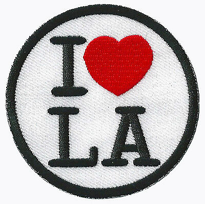 Patche écusson I love LA patch Los Angeles thermocollant brodé