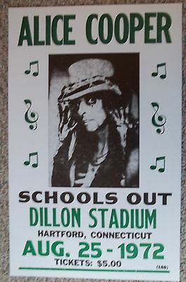 Alice Cooper playing at Dillon Stadium in Hatford, CT Poster Print