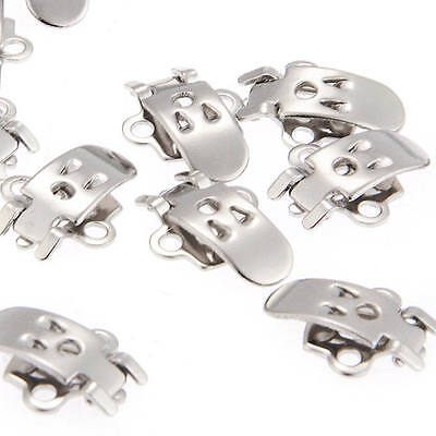 20x Blank Stainless Steel Shoe Clips Clip on Findings for Wedding Craft