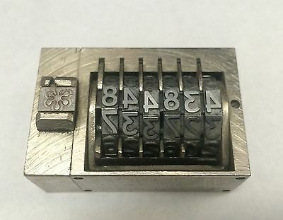 New Letterpress Numbering Machine 6 Digits Press Print Stamp Nice Germany Made