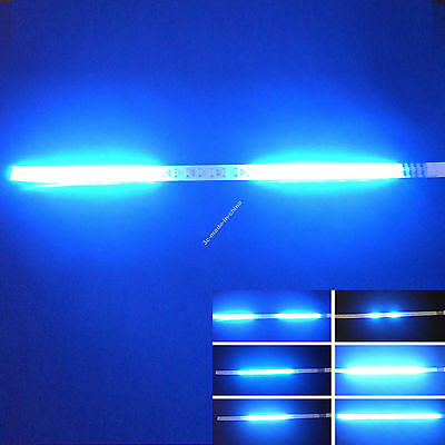 Blue 1FT 12IN 30CM 32 Led Knight Rider Flash Strobe Scanner Neon Strip Light DIY