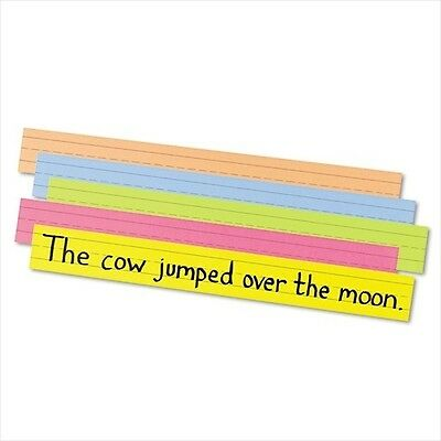 Pacon Peacock Super Bright Sentence Strips Ruled Assorted Colors - Brand New