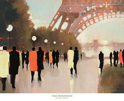 32x26 ART PRINT - Paris Remembered by Lorraine Christie - Eiffel Tower Poster