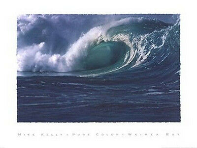 SURFING ART PRINT: Waimea Bay by Mike Kelly SURF Poster