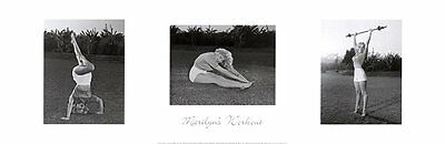 MARILYN MONROE ART PRINT - Marilyn's Workout 36x12 WEIGHT LIFTING WEIGHTS Poster