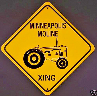 MINNEAPOLIS MOLINE XING  Aluminum Tractor Sign  Won't rust or fade