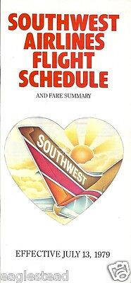 Airline Timetable - Southwest - 13/07/79
