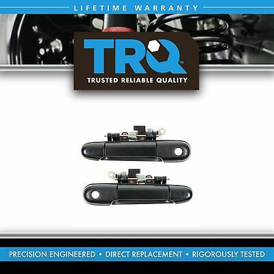 Front Black Outer Outside Exterior Door Handle Pair Set of 2 for Tercel Paseo