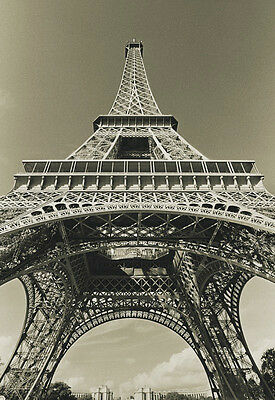 PHOTO ART PRINT Eiffel Tower Looking Up by Christian Peacock 14x11 Paris Poster