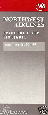 Airline Timetable - Northwest - 06/09/89