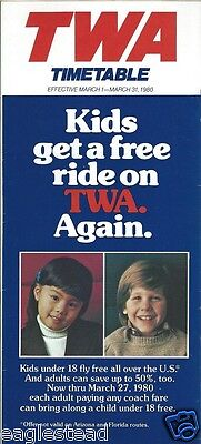 Airline Timetable - TWA - 01/03/80