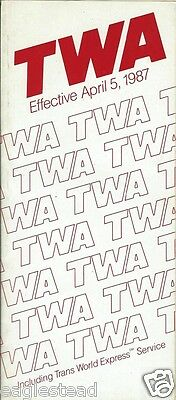 Airline Timetable - TWA - 05/04/87