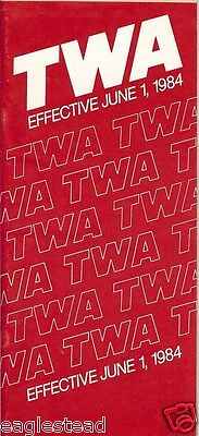 Airline Timetable - TWA - 01/06/84