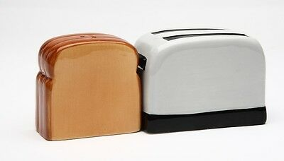 Toaster & Loft Bread Toast Salt & Pepper Shakers.magnetic Attached.kitchen Decor