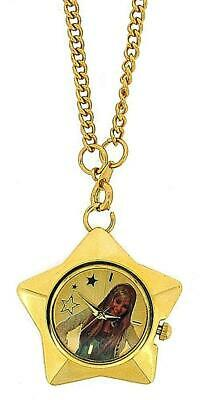 Hannah Montana Girls Analogue Gold Plated Star Pendant Watch On 27 Inch Chain