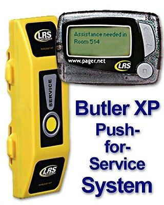 LRS Long Range Systems Push-for-Service Paging System Kit (Butler XP,1 Pager)