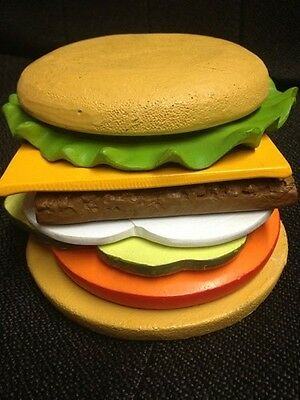 Wendy's Hamburger 8 Piece Novelty Coasters. Very Rare And Unique. Only 1 Set.
