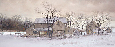 Ray Hendershot 24x14 Cow Cattle Poster Country Lane FARM LANDSCAPE ART PRINT