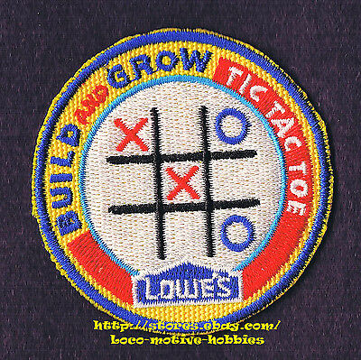 LMH PATCH Badge  TIC TAC TOE  Game Board  LOWES Build Grow Project Series XO