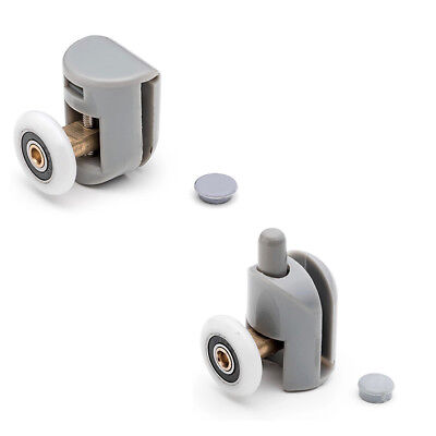 * Set of 4 Single Shower Door Rollers/Runners/Wheels/Pulleys 25mm wheel Dia L001