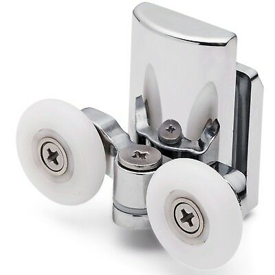 2 x Twin Bottom Zinc Alloy Shower Door Rollers/Runners/Wheels 25mm wheel L067