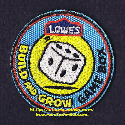 LMH PATCH Badge  2011 GAME BOX  Dice Die Toy  LOWES Build Grow Project Series