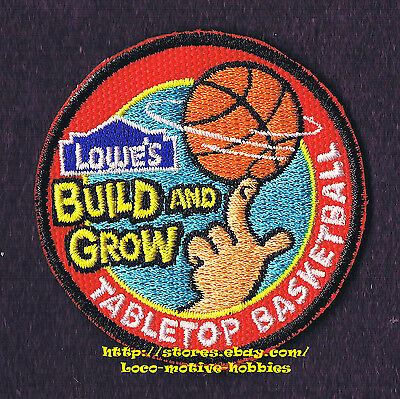 LMH PATCH Badge  2010 TABLETOP BASKETBALL  Basket LOWES Build Grow Kids Clinic