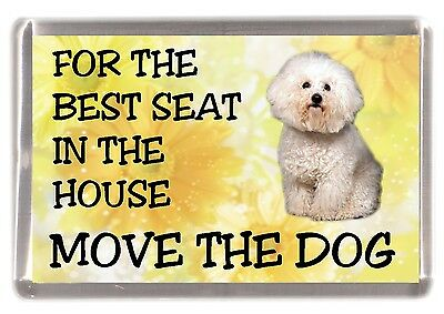 """Bichon Frise Dog Fridge Magnet """"For the Best Seat in the House...."""" by Starprint"""