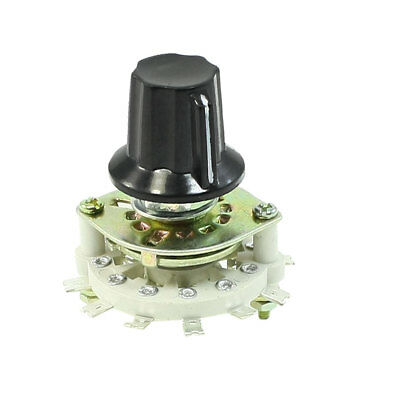 Plastic Knob 3P3T 3 Pole 3 Throw Band Channel Rotary Switch Selector