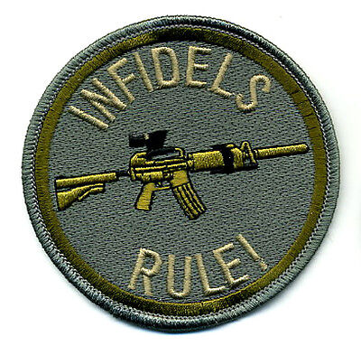 JSOC ELITE PROFESSIONALS SPECIAL WARFARE VELCRO MORALE PATCH: INFIDELS RULE b