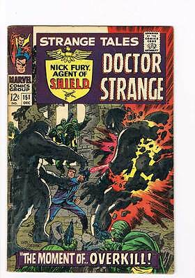 Strange Tales # 151  Nick Fury Dr.Strange grade 5.0 Super Scarce Hot Book !!
