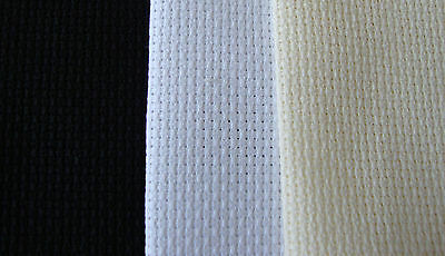 Aida 14ct/18ct Various sizes, Black,White,Cream  X Stitch/Embroidery fabric