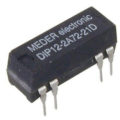 DIP122A7221D Reed-Relais 12V= 2xEIN 500 Ohm mit Diode parallel MEDER