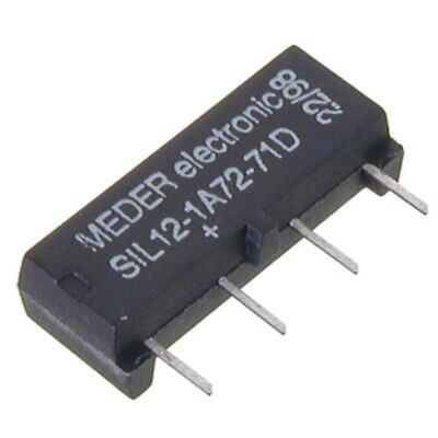 SIL121-A7271D SIL-Reed-Relais 12V= 1xEIN 1 kOhm mit Diode parallel MEDER SIA12D