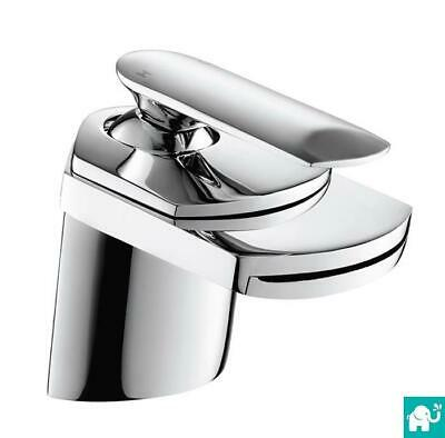 Cascade Waterfall Modern Chrome Bathroom Basin Mixer Bath Shower Filler Tap Set