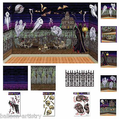 Halloween Horror Spooky Graveyard Scene Setter Add-on Decorations One Listing