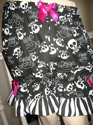 Pink bloomers with white skulls
