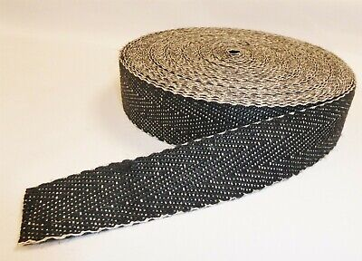 UPHOLSTERY WEBBING - BLACK & WHITE  for seats & furniture (1m to 33m)