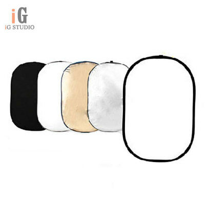 """Photography 47"""" * 71"""" 5-in-1 Mulit Collapsible Light Photo Reflector 120cm*180cm"""