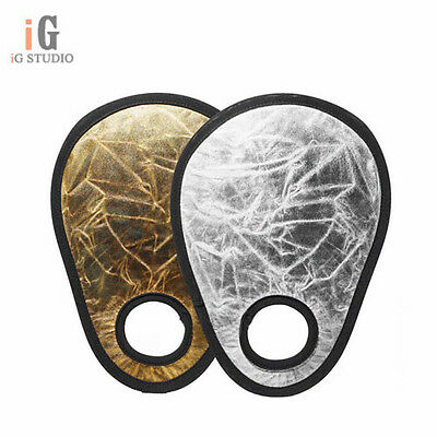 """Photography 12"""" Gold & Silver 2-in-1 Light Collapsible Portable Photo Reflector"""