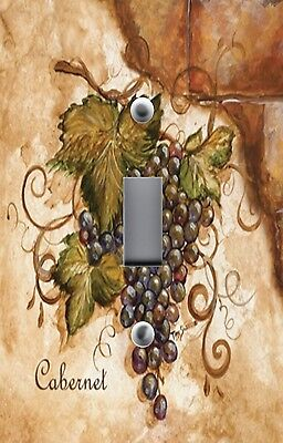 Light Switch Plate Switchplate & Outlet Covers TUSCAN CABERNET GRAPES ON BRICK