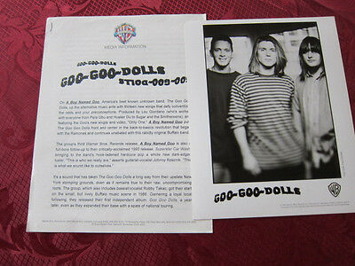 GOO GOO DOLLS Press kit 1 photo 4 pgs