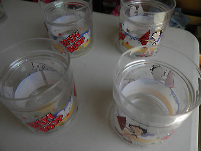 Betty Boop Acrylic Glasses Set Of 4