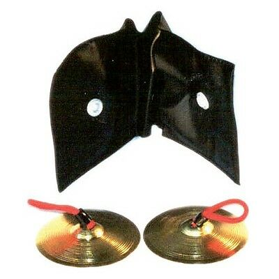 """Finger Cymbals 2"""" Brass  Pair *NEW* Kids Percussion Zills"""