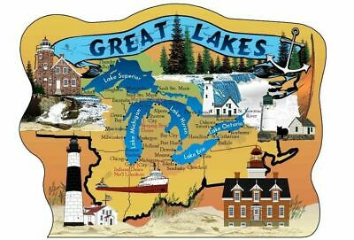 Cat's Meow Village Map Great Lakes #MW6345 NEW Exclusive SHIPPING DISCOUNTS