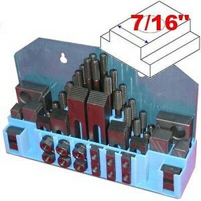 "58 pc 7/16"" Slot 3/8"" Stud HOLD DOWN CLAMP CLAMPING SET KIT for BRIDGEPORT MILL"
