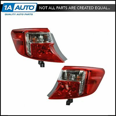 Outer Brake Light Taillight Taillamp Pair Set of 2 for 12-13 Camry & Hybrid